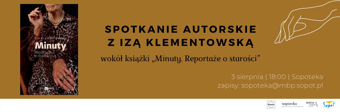 spotkanie autorskie z Izą Klementowską Sopoteka 3 sierpień 18:00